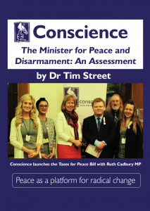 Front cover of the Minister for Peace and Disarmament Report, 1st edition, 01-07-2018
